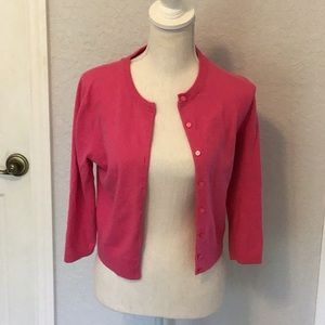 Lilly Pulitzer hot pink cardigan sweater